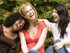 women laughing -3 women